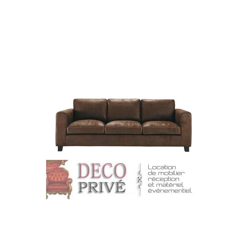 canap cuir marron cool canap sofa divan canap places en. Black Bedroom Furniture Sets. Home Design Ideas