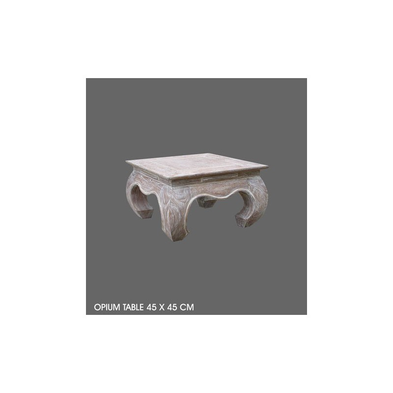 Location table basse opium 45 x 45 cm beige ceruse location de meubles pari - Table basse opium carre ...