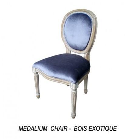 Location chaise medaillon ceruse et tissu gris location for Chaise medaillon solde