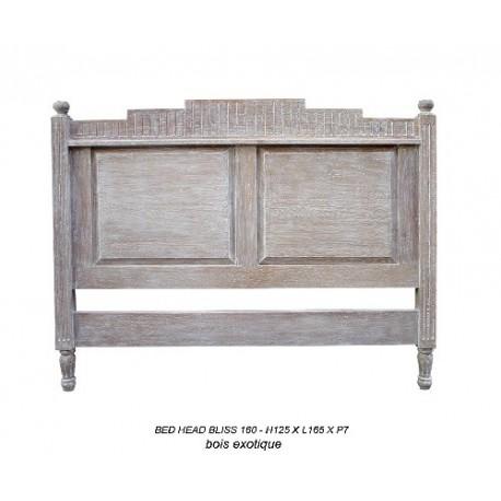 Location tete de lit 160 cm en bois ceruse modele bliss location de meubles - Modele tete de lit en bois ...
