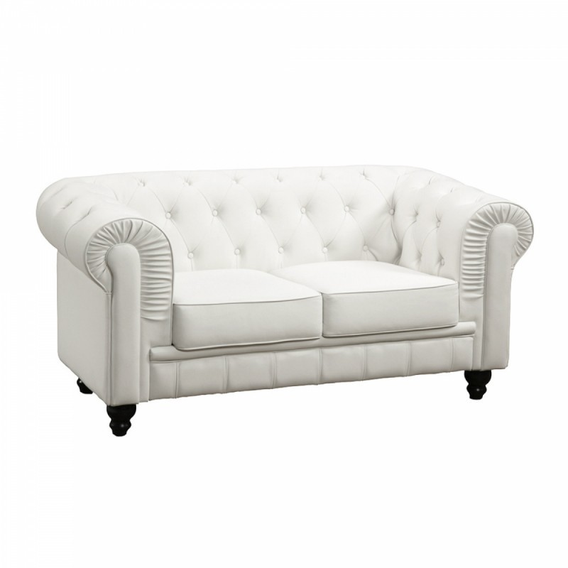 Location canap chesterfield for Canape chesterfield cuir blanc