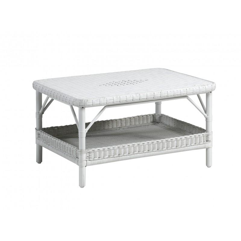 Table basse jardin en rotin for Table en rotin blanc