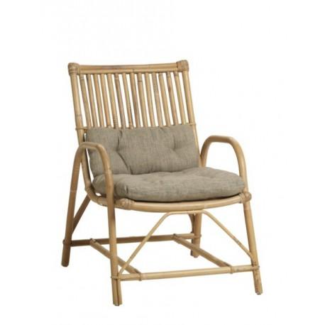 Location fauteuil de jardin canne naturelle et coussin - Coussin de fauteuil de jardin ...