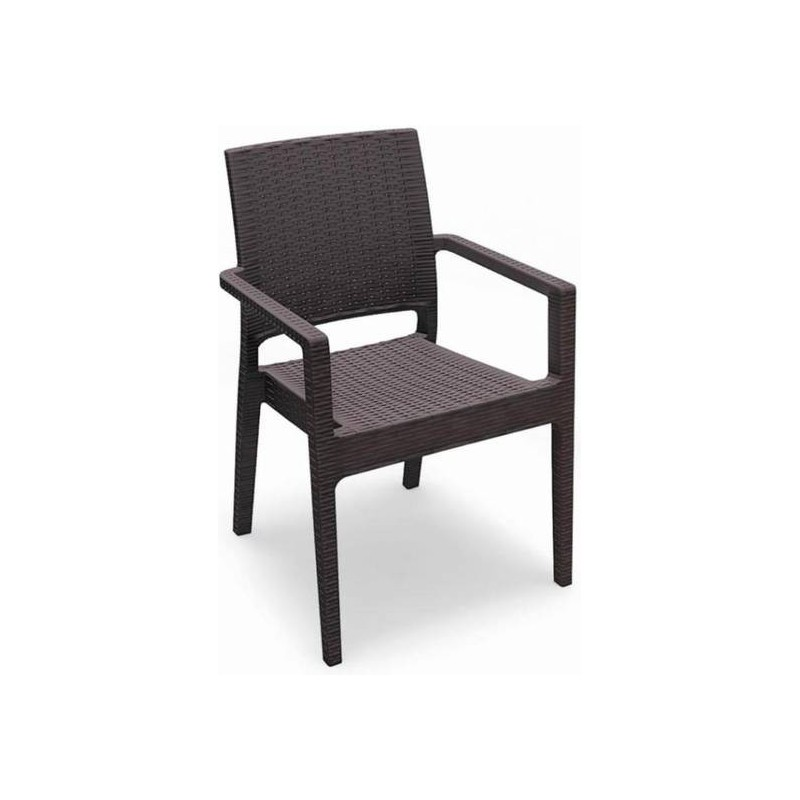 Location fauteuil de jardin en r sine tress e location de meubles paris et - Fauteuil jardin resine ...