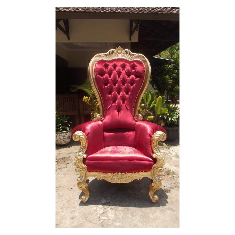 location fauteuil tr ne velours rouge location de. Black Bedroom Furniture Sets. Home Design Ideas