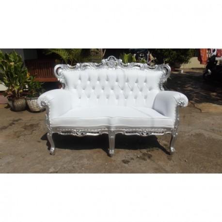 location banquette blanche pour mariage d co priv. Black Bedroom Furniture Sets. Home Design Ideas