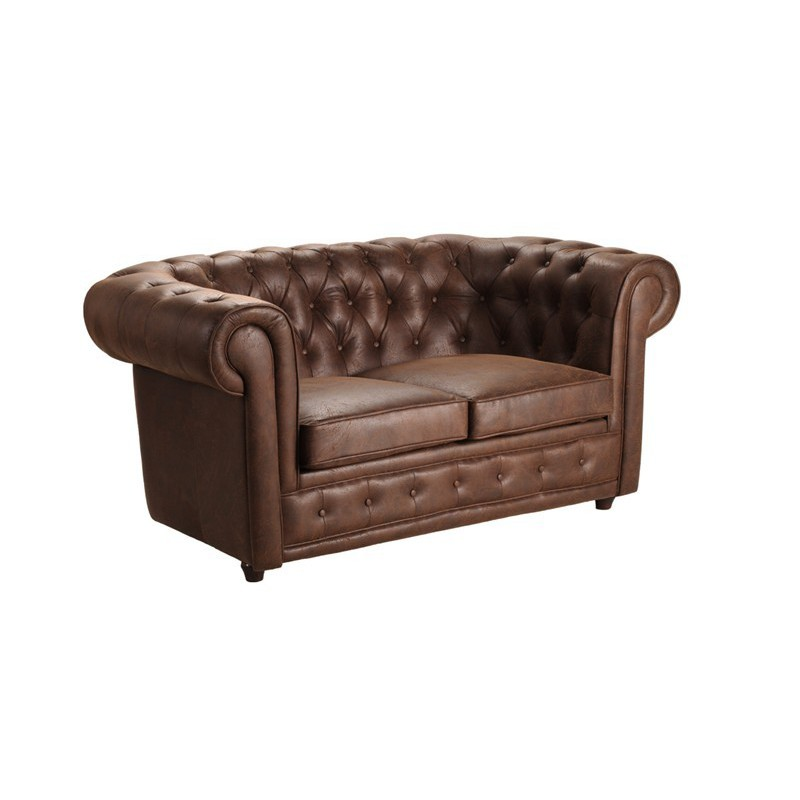 location canap chesterfield 2 places vintage microfibre. Black Bedroom Furniture Sets. Home Design Ideas