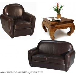 Location 1 fauteuil club 1 canapé 1 table basse