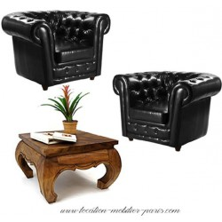 Location pack chesterfield 2 fauteuils + 1 table