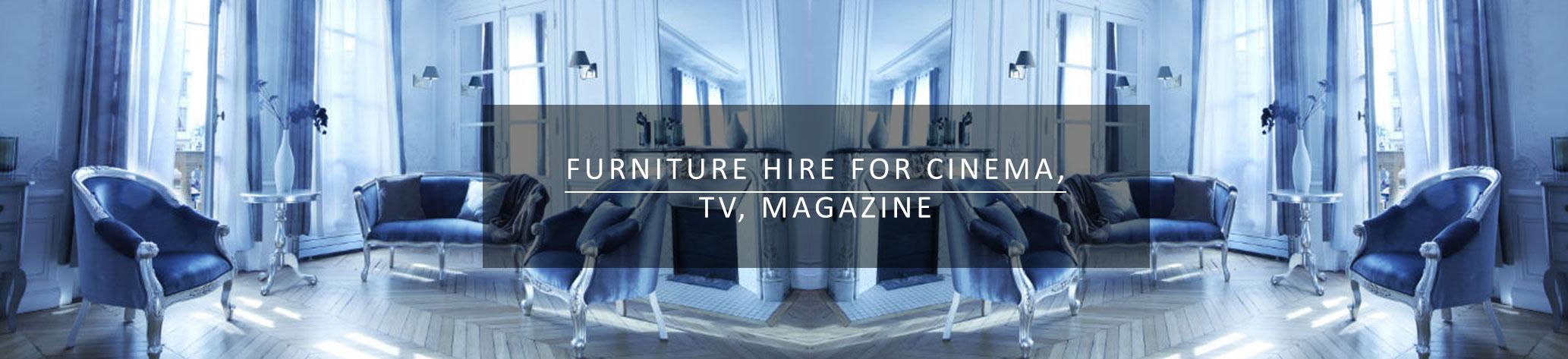 furniture hire for cinema tv magazine