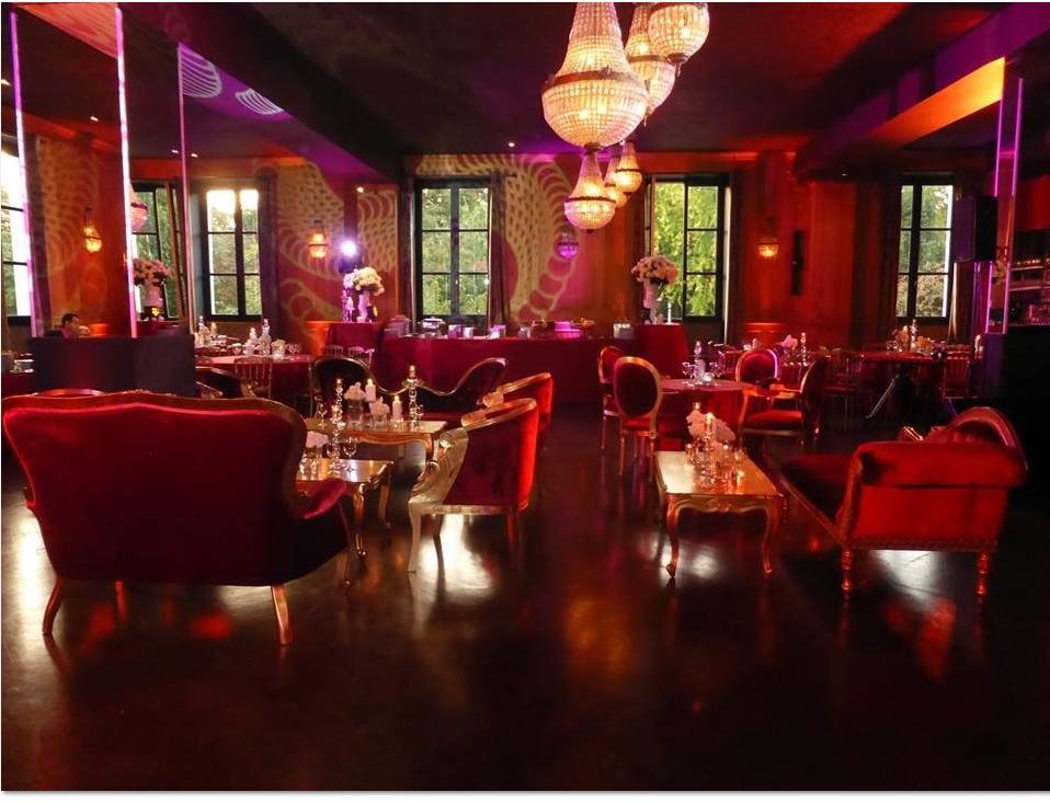 Loueur de mobilier haut de gamme pour évènements de luxe :