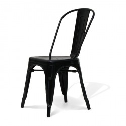 Chaise metal noir