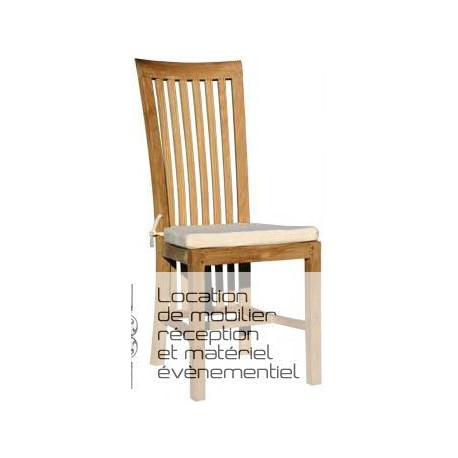 Location chaise en teck