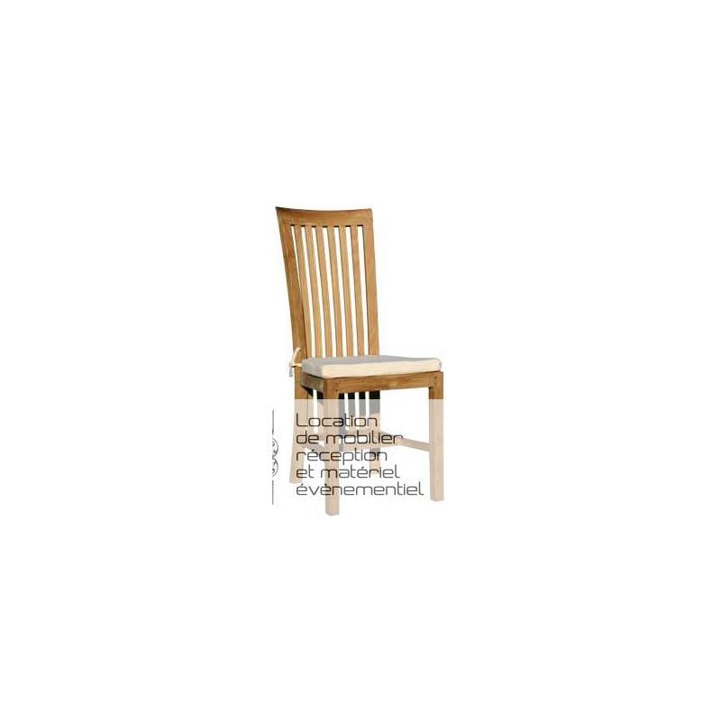 location chaise en teck d co priv. Black Bedroom Furniture Sets. Home Design Ideas
