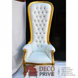 Location trone royal baroque