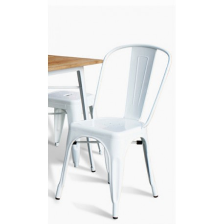 126 events location chaise industrielle en m tal blanc. Black Bedroom Furniture Sets. Home Design Ideas