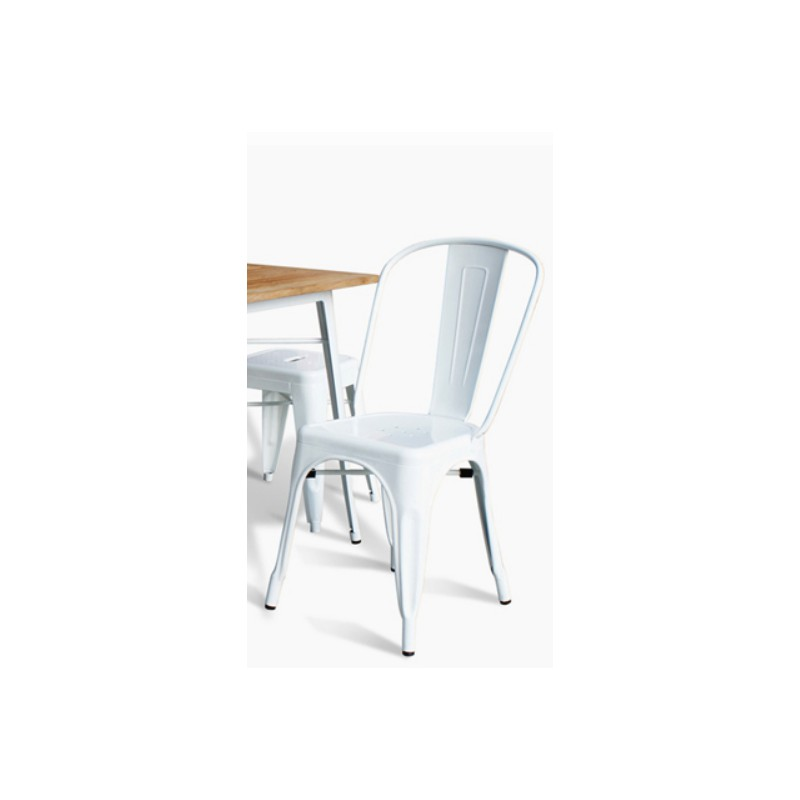 Location Chaise Metal Blanc