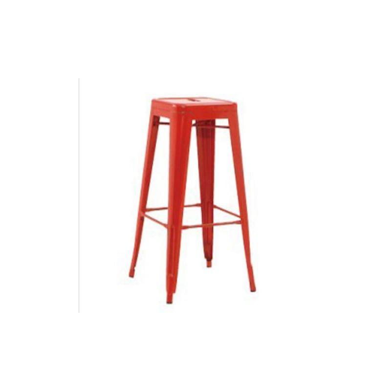 location tabouret haut en m tal rouge location de meubles. Black Bedroom Furniture Sets. Home Design Ideas