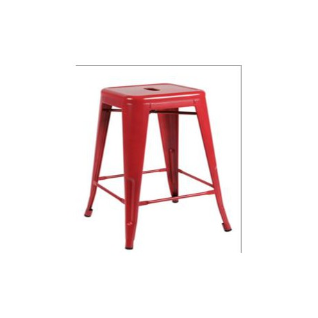 Tabouret de bar haut rouge