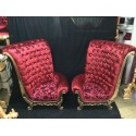 Location fauteuil mariage velours rouge