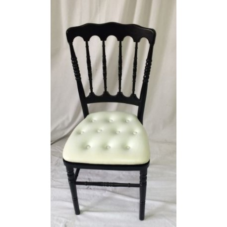 126 events location chaise napoleon 3 noire et galette blanche. Black Bedroom Furniture Sets. Home Design Ideas