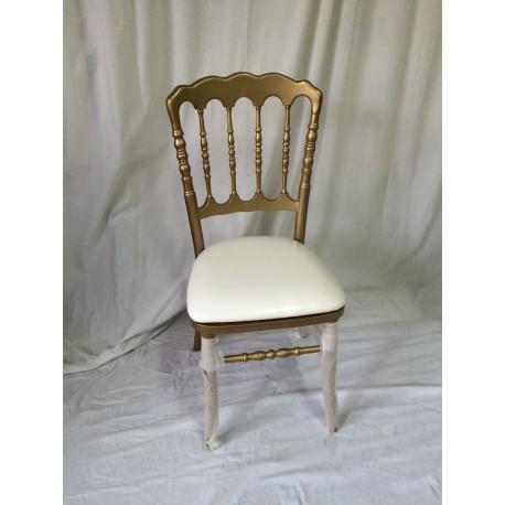 location chaise napoleon 3 dor e et blanche. Black Bedroom Furniture Sets. Home Design Ideas
