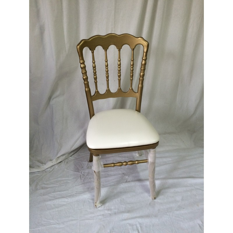 Location chaise napoleon 3 dor e et blanche for Chaise napoleon blanche