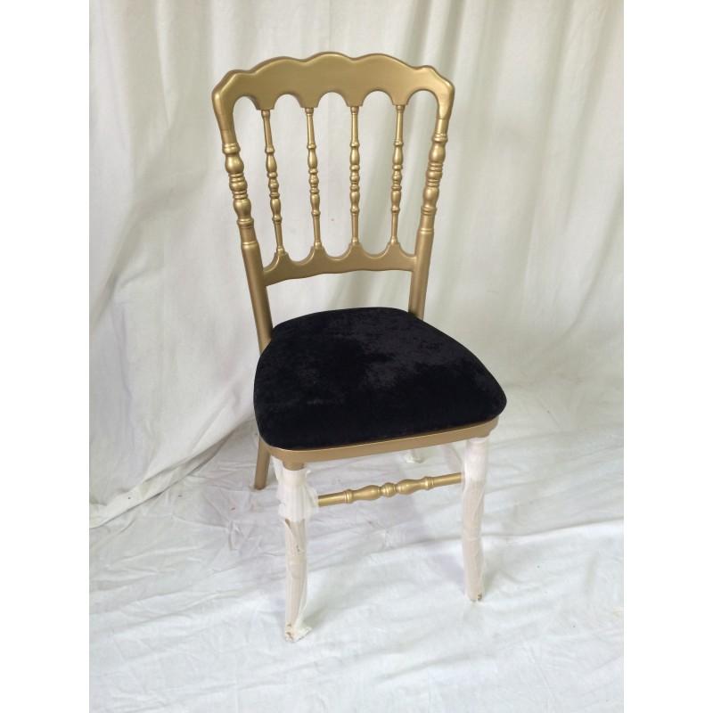 Chaise Napoleon Doree Et Noire Location