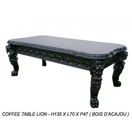 Location table basse bois noir