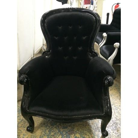 Location fauteuil baroque velours noir