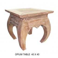 Table Basse Opium 45 X 45 Cm Beige Ceruse