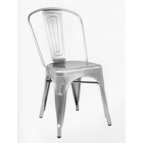 Chaise métallisée