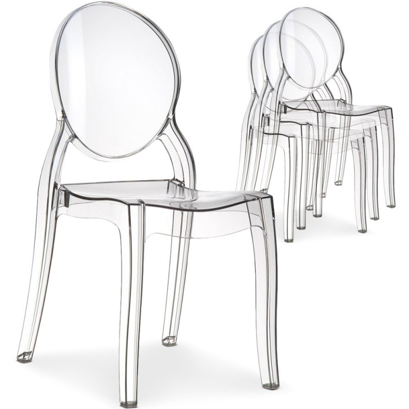 Location fauteuil inspiration starck d co priv - Chaise transparente starck ...