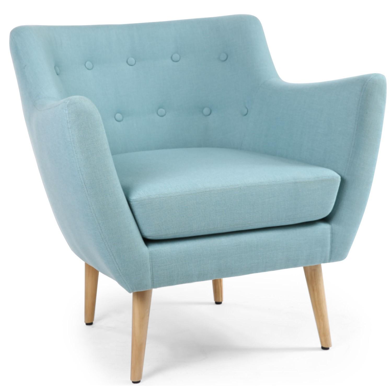 Louer Fauteuil Style Scandinave Bleu - Fauteuil large