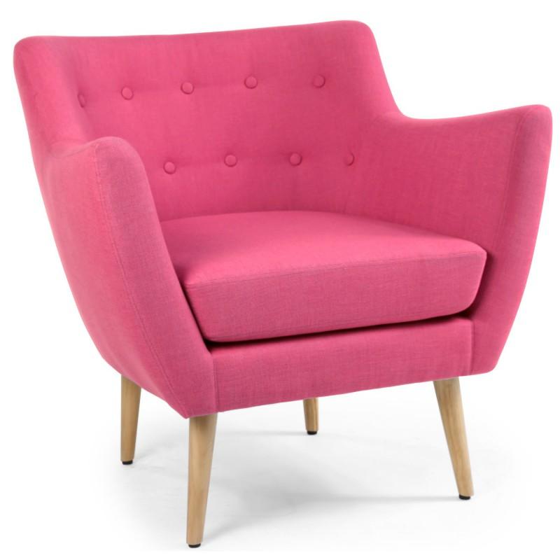 louer fauteuil en tissu rose style scandinave. Black Bedroom Furniture Sets. Home Design Ideas