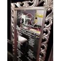 Miroir baroque argenté à louer modèle Eclipse
