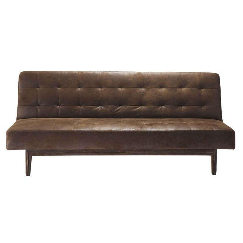Location clic clac cuir vieilli location de meubles - Canape cuir vieilli convertible ...