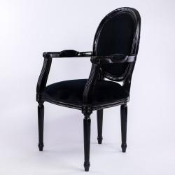 Location fauteuil velours noir