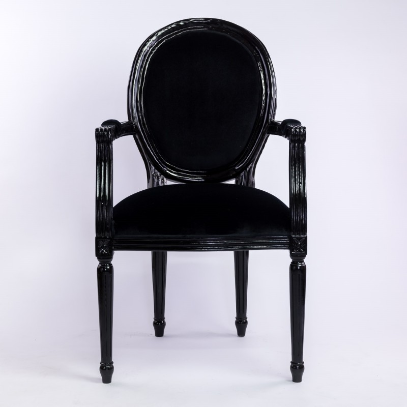 location fauteuil velours noir d co priv. Black Bedroom Furniture Sets. Home Design Ideas