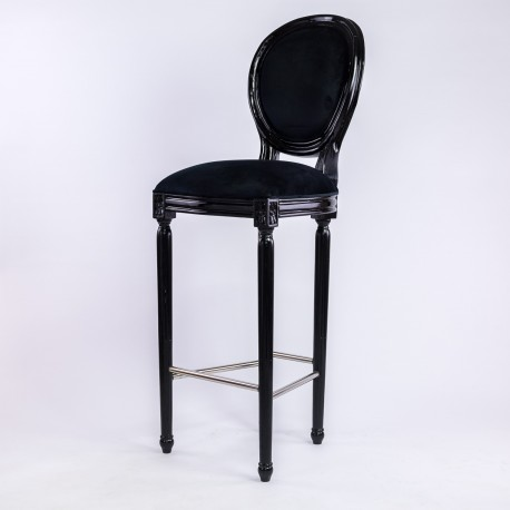 Chaise De Bar Louer En Velours Noir Style M Daillon