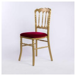 Location Chaise Napol'on De Reception Napoleon Dore Et Rouge