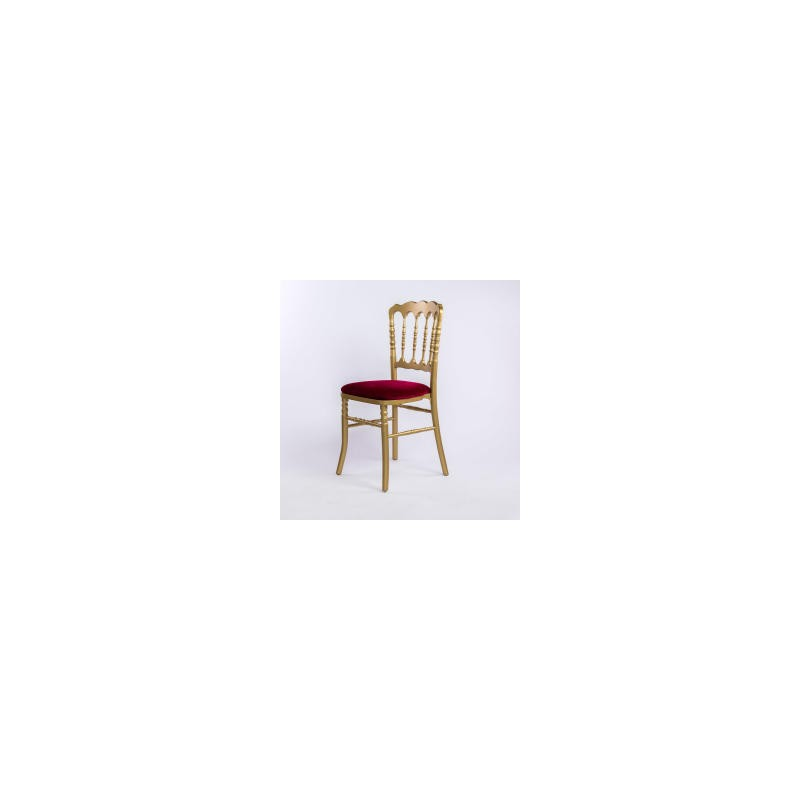 Chaise en or napoleon iii et sa galette rouge for Chaise napoleon mariage