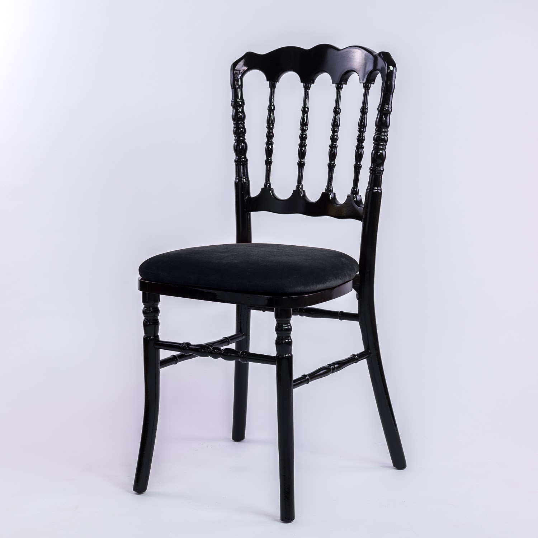 126 EVENTS Location De Chaise Napoleon III Noire Empilable