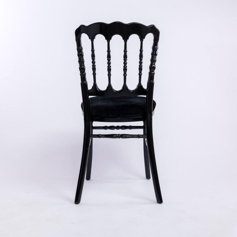location de chaise napoleon iii noire empilable d co priv. Black Bedroom Furniture Sets. Home Design Ideas