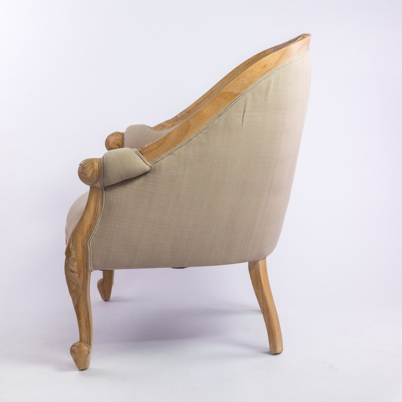 fauteuil cabriolet beige top fauteuil cabriolet cuir marron fauteuil en tissu beige capitonn. Black Bedroom Furniture Sets. Home Design Ideas