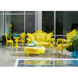 Canapé baroque jaune