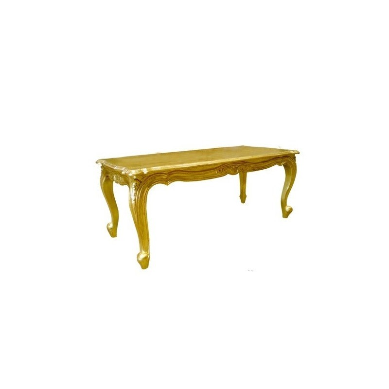 location table basse style baroque dor d co priv. Black Bedroom Furniture Sets. Home Design Ideas