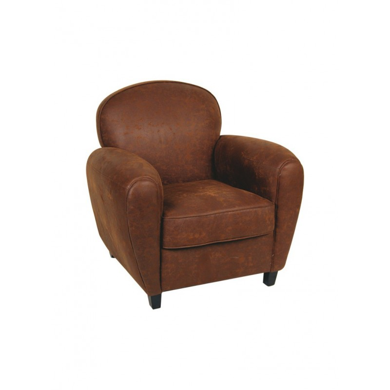 location fauteuil club tissu marron 126 events. Black Bedroom Furniture Sets. Home Design Ideas