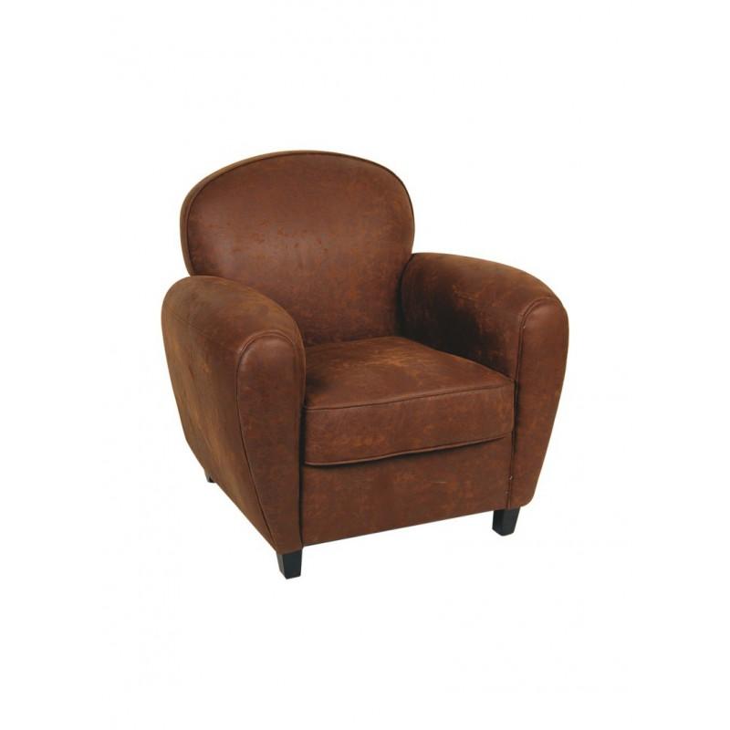 Location fauteuil club tissu marron 126 events - Fauteuil club marron ...