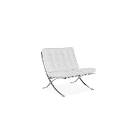 126 Events Fauteuil Design Barcelona En Cuir Blanc Location De